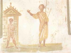 Raising of Lazarus, Catacombs