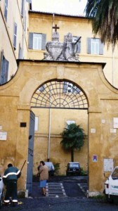 Gate to Sacred Heart Convent, Rome